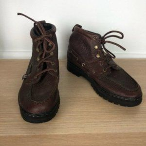 JUSTIN leather lace up english riding boots size 6